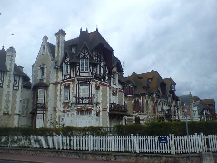norman style mansions, deauville